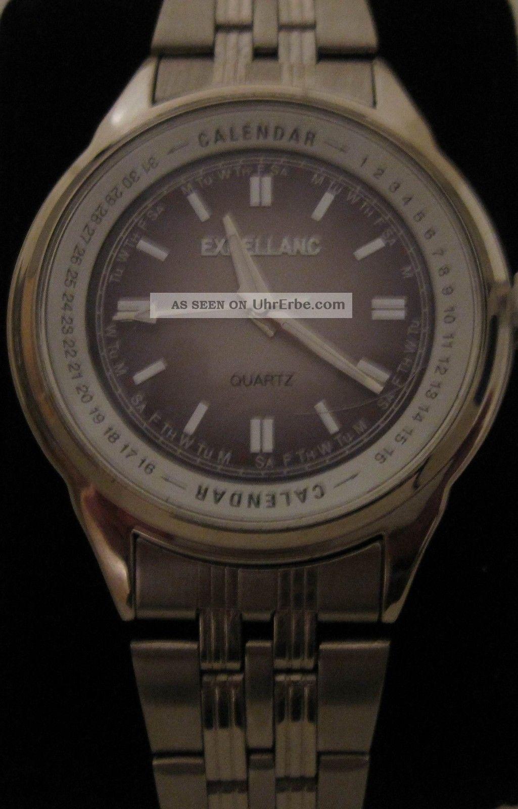 Excellanc Herrenuhr Armbanduhr Metallband Klassisch Quarz Watch