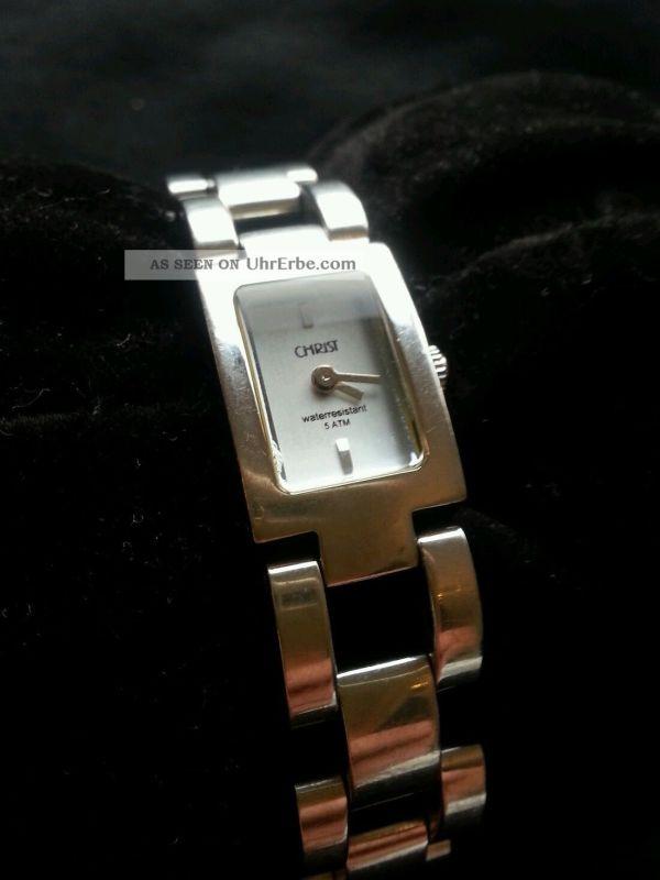 Damen Armbanduhr Christ - Quarz Voll Edelstahl. Wunder