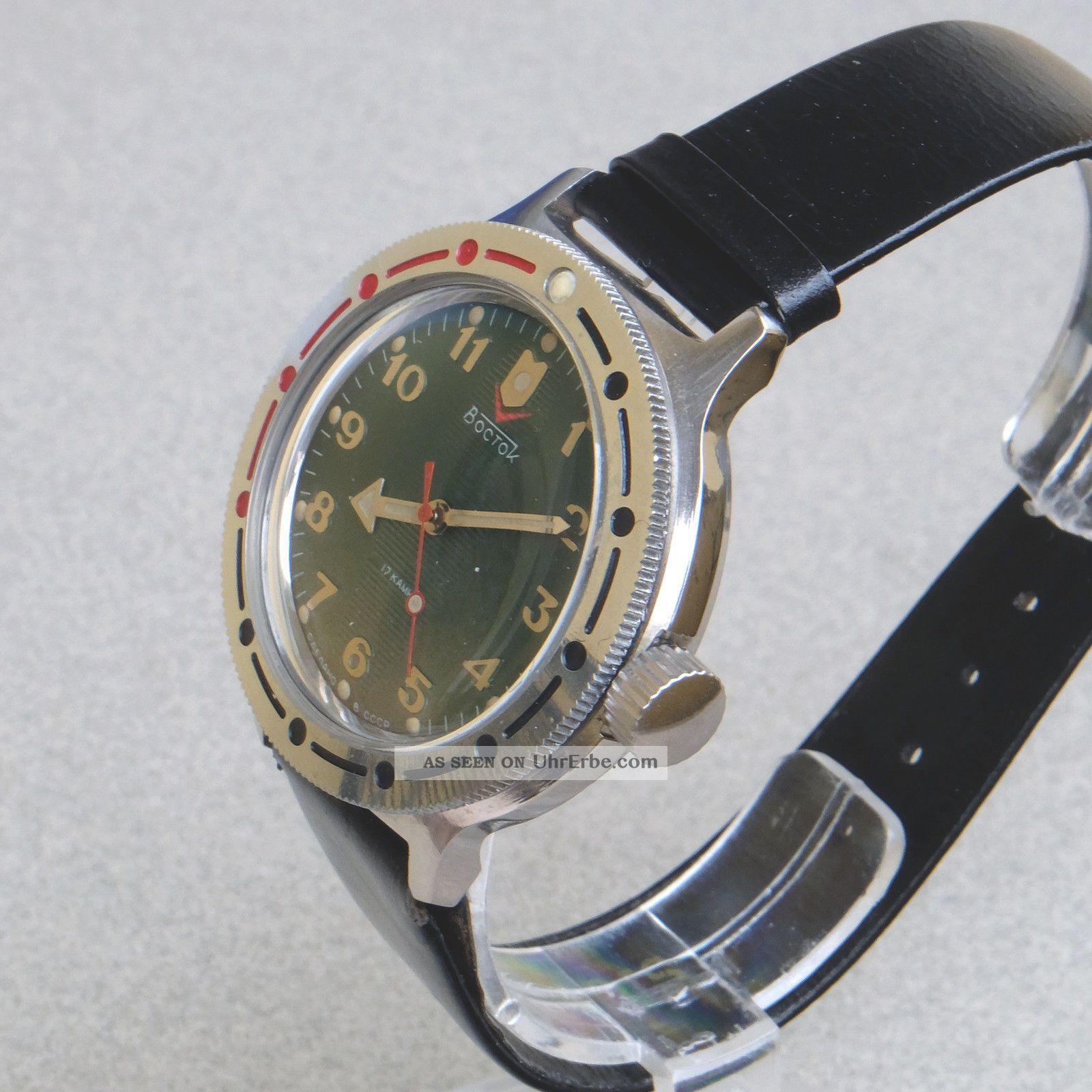 Boctok 17jewels Vostok Herren Militr Uhr Russian Mens Watch Handaufzug Arrow