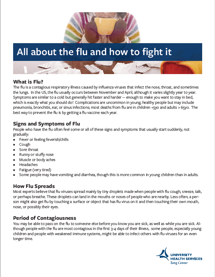All about the flu and how to fight it | University Health Services