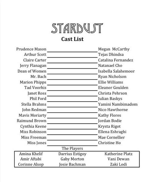 fall cast list a&e