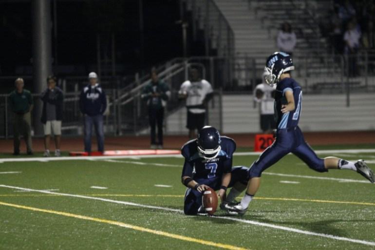 Special Teams Nick Loveland (#10) attempts a field goal (Jerry Park)
