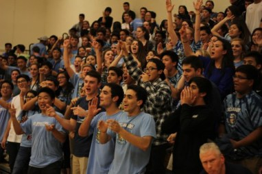 The Trojan Army came out in full force to pack Woodbridge's gym. (Johnny Liu)