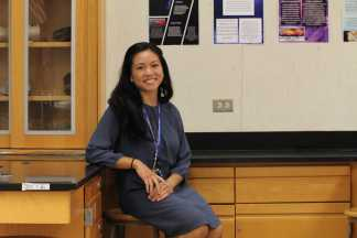 Ms. Ruby-Ann Manalaysay (Science Dept.), a new hire at UHS, teaches Biology and Marine Science. She is also one of two Freshmen Class Council Faculty Advisors. (Amanda Tran)