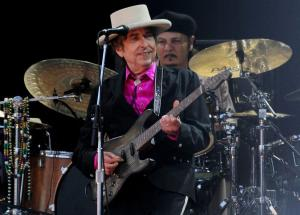 """American singer Bob Dylan has been hailed as """"a great poet in the English-speaking tradition"""" following his surprise win of the Nobel Prize in Literature. (Gareth Fuller/PA Wire/Zuma Press/TNS)"""
