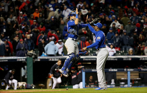 Game 2: Chicago Cubs at Cleveland
