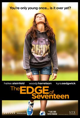 One of the official posters for The Edge of Seventeen, featuring Hailee Steinfeld as Nadine. (Courtesy of IMDb/STX)