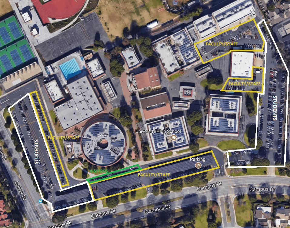Over sixty new student parking spaces added at UHS as a result of parking reallocation