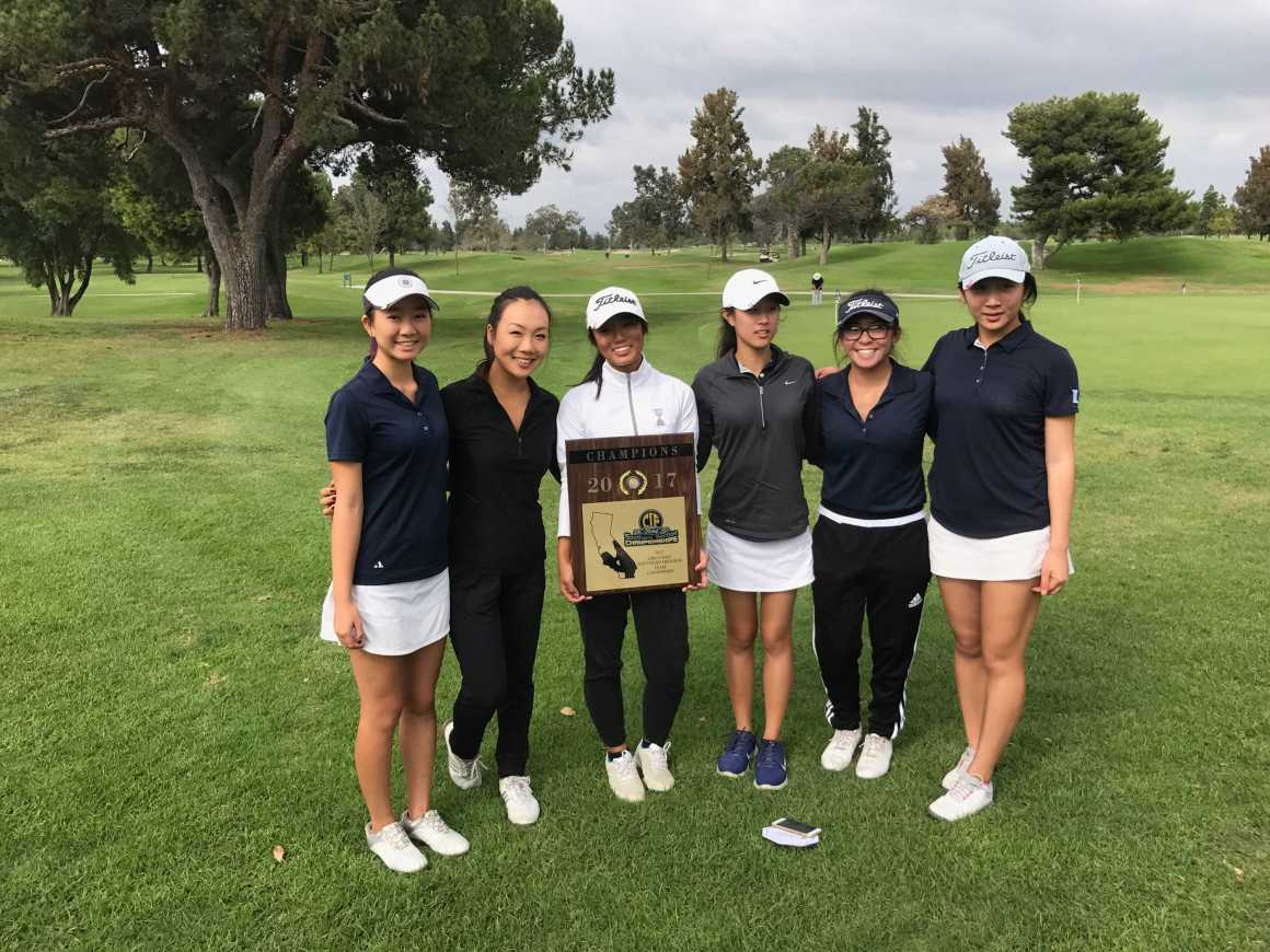 Girls Golf places first in CIF Southern Section for the first time