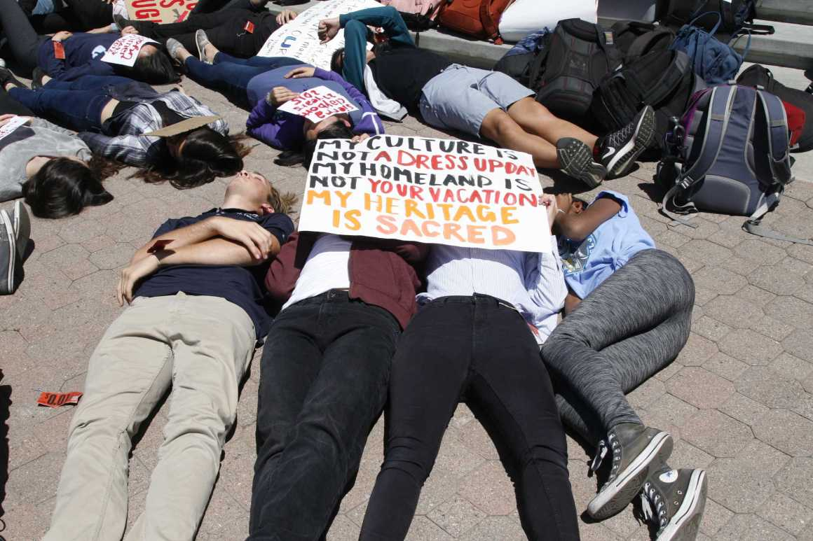"Students participate in ""die in"" in solidarity with national protests"