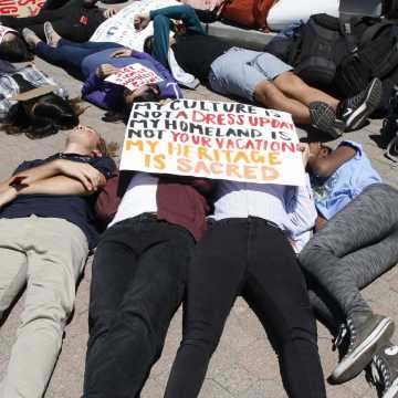 """Students participate in """"die in"""" in solidarity with national protests"""
