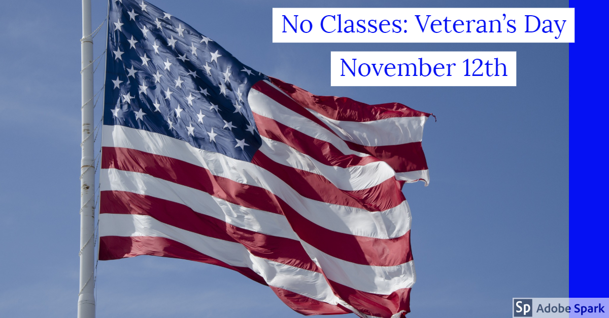 Veteran's Day November 12th