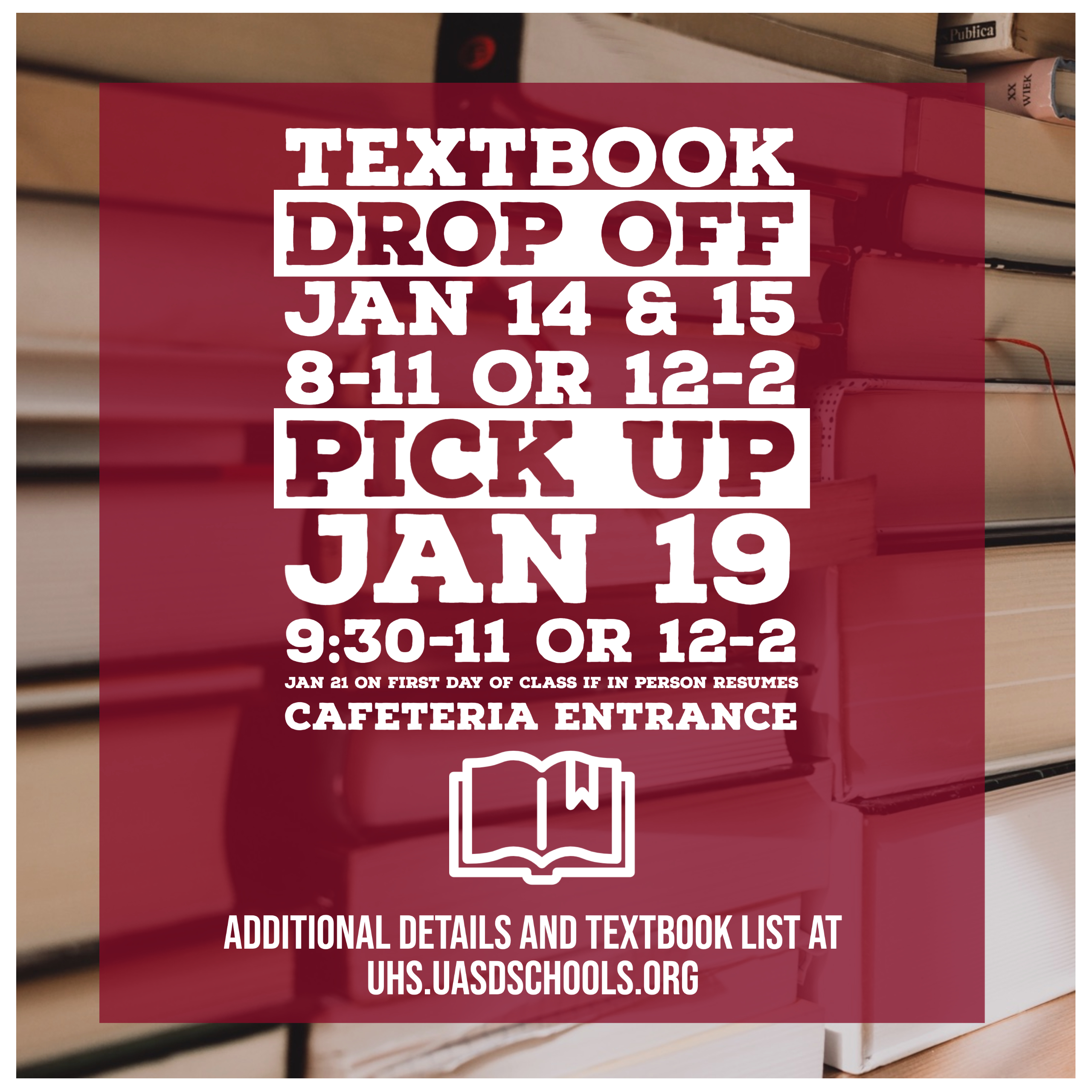 Textbook Drop Off and Pick Up