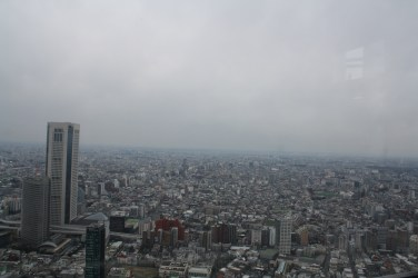 View of Tokyo city from the observatory at Tokyo Metropolitan Government Building
