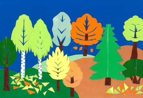 картинка для аппликации лес изменились ваши