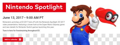 E3 2017 任天堂ブースの日程と内容のまとめ (6/10更新)