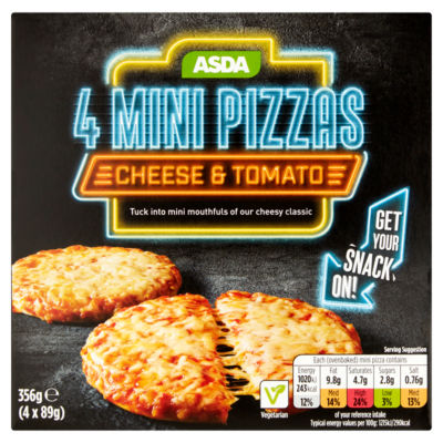 asda 4 cheese tomato mini pizzas