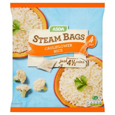 asda 4 steam bags cauliflower rice