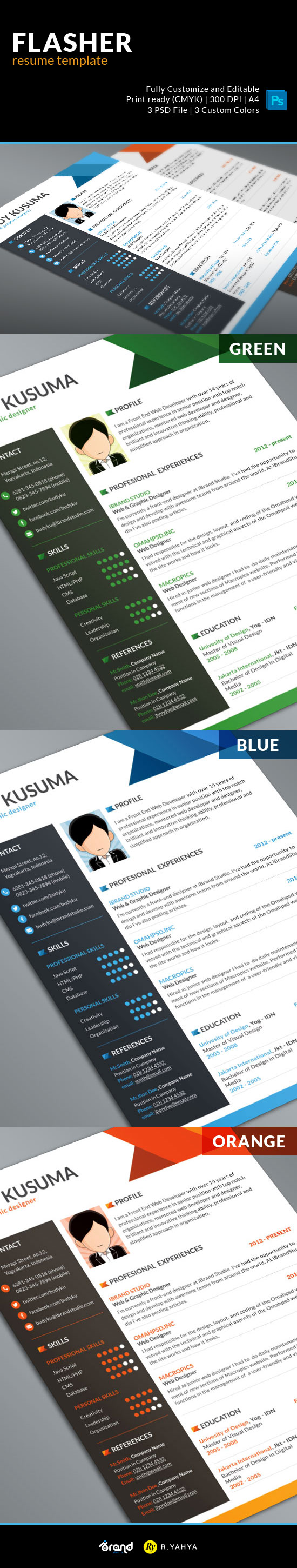 4: Free Resume-Cv Template For Graphic Designers 2015: