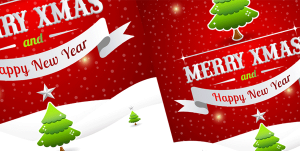 free-christmas-poster-template-vector