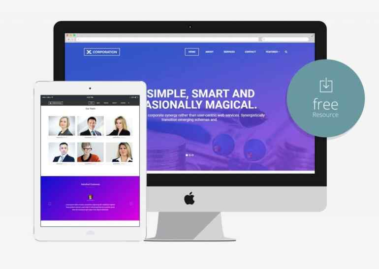 100 best free html5 responsive bootstrap templates x corporation free bootstrap html5 template for business agency flashek Images