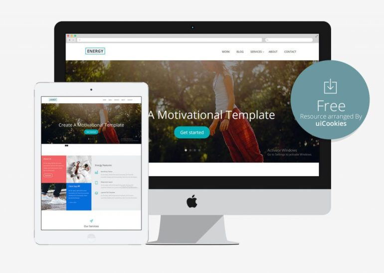 Energy - Amzing free bootstrap web template