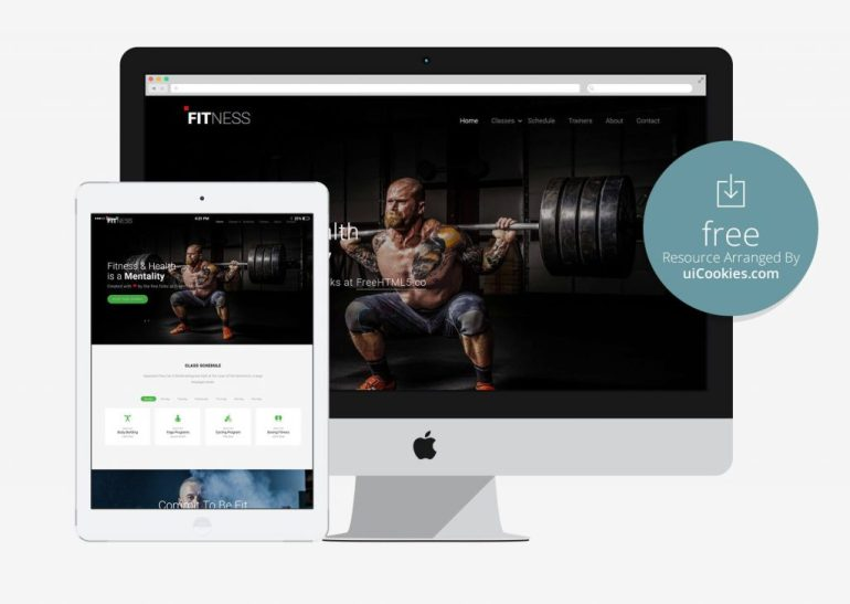 Free Fitness Bootstrap Responsive Theme