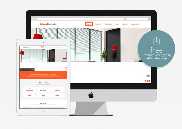 Ideal-Interior - Bootstrap Website Template For Real Estate