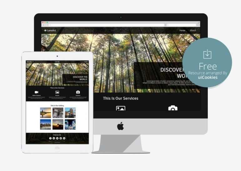Lensart - Responsive Best Free HTML template