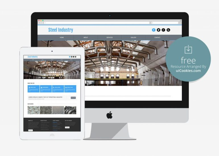 Steel Industry - Production house website template