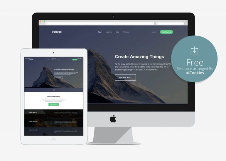 Voltage - Retina Ready Bootstrap Website Template
