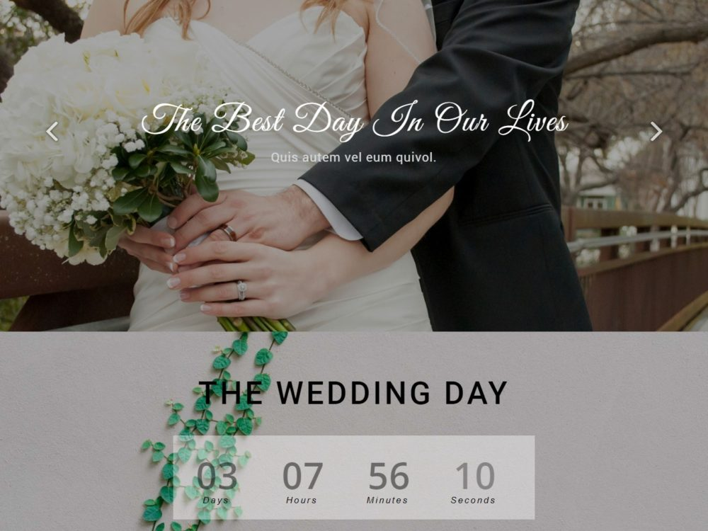 25 Elegant Free HTML Bootstrap Wedding Websites For Your Special Day