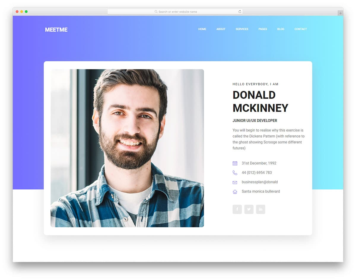 Resume Templates Online 13 Free Bootstrap Html Resume Templates For Personal Cv Website 2019