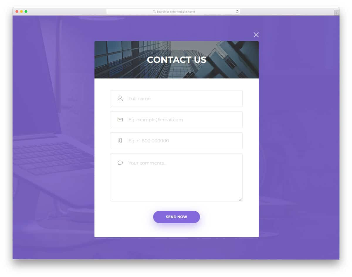 30 Trend Looking Css Contact Form Designs That Saves Your Time
