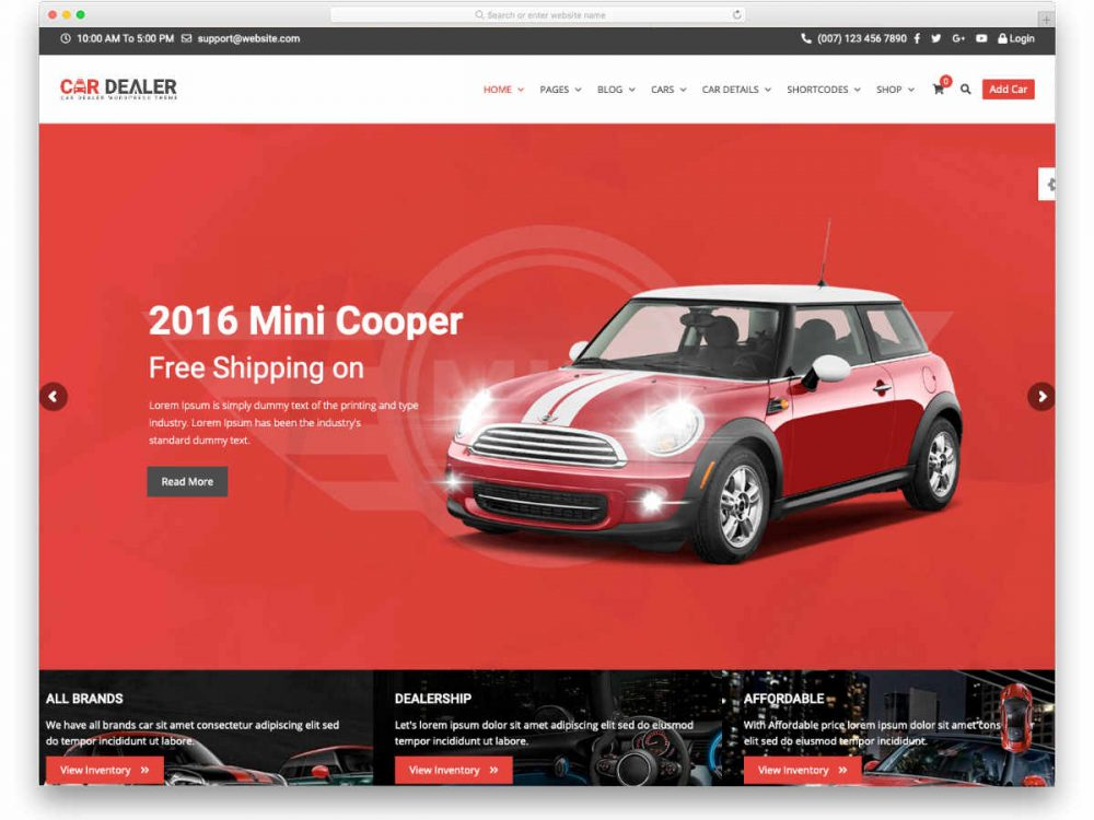 This is mainly because such website designs can offer a. 26 Car Dealer Website Templates For Zippy User Experience Uicookies