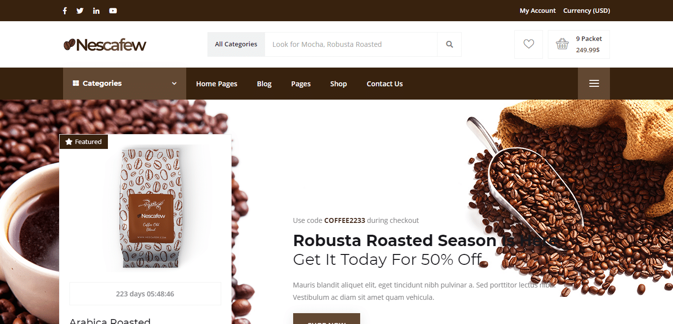 A good cup of coffee not only benefits your body and brain, it can soothe your soul. 18 WordPress Coffee Shop Website Template 2020