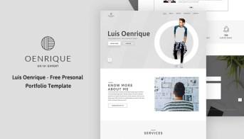 Alex - Free Personal Portfolio and Resume PSD Template - UIdeck
