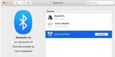 Image result for how to connect airpods to macbook pro