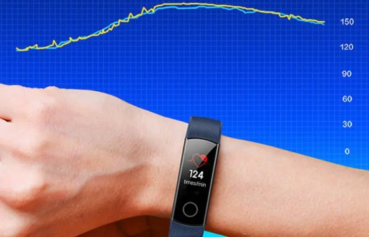 heart rate monitor of Honor Band 4