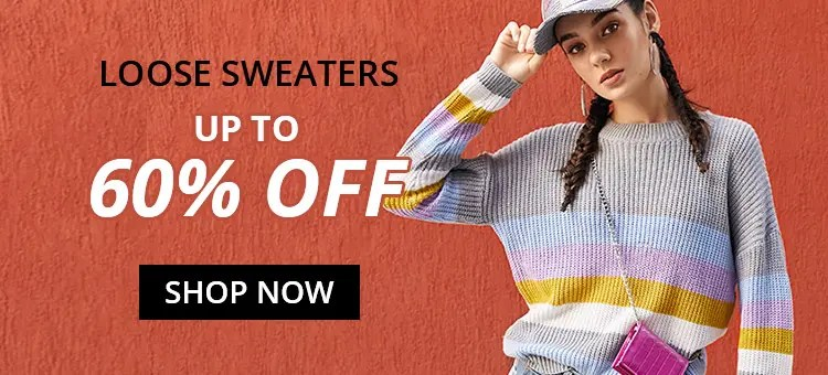 Loose Sweater Trend promotion