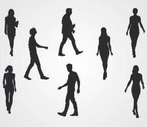 Walking People Silhouettes Free Vector free vectors UI Download
