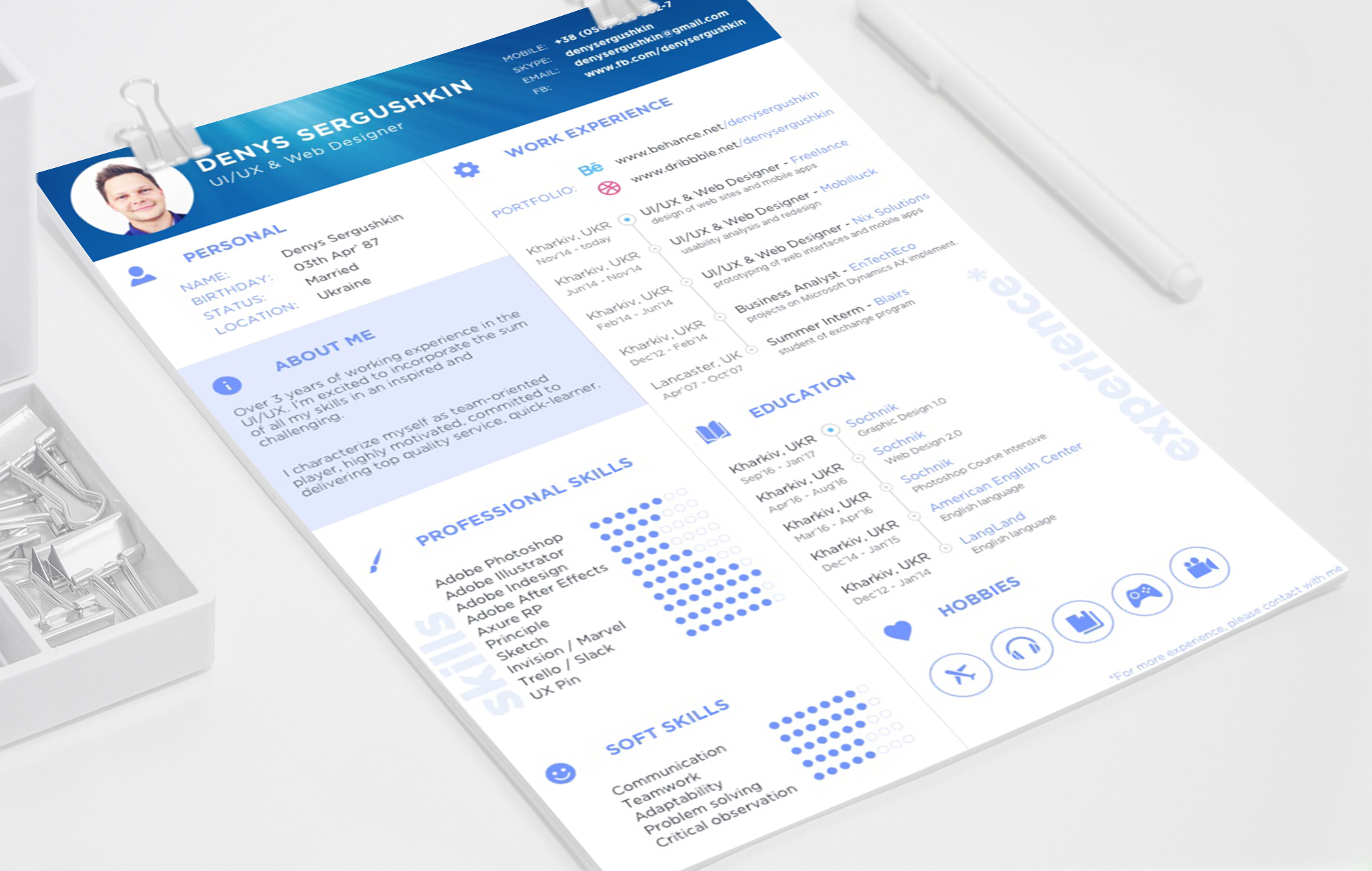 Resume Psd Template Free Resume Template Download Psd 43 Sketch Free Psd Ui