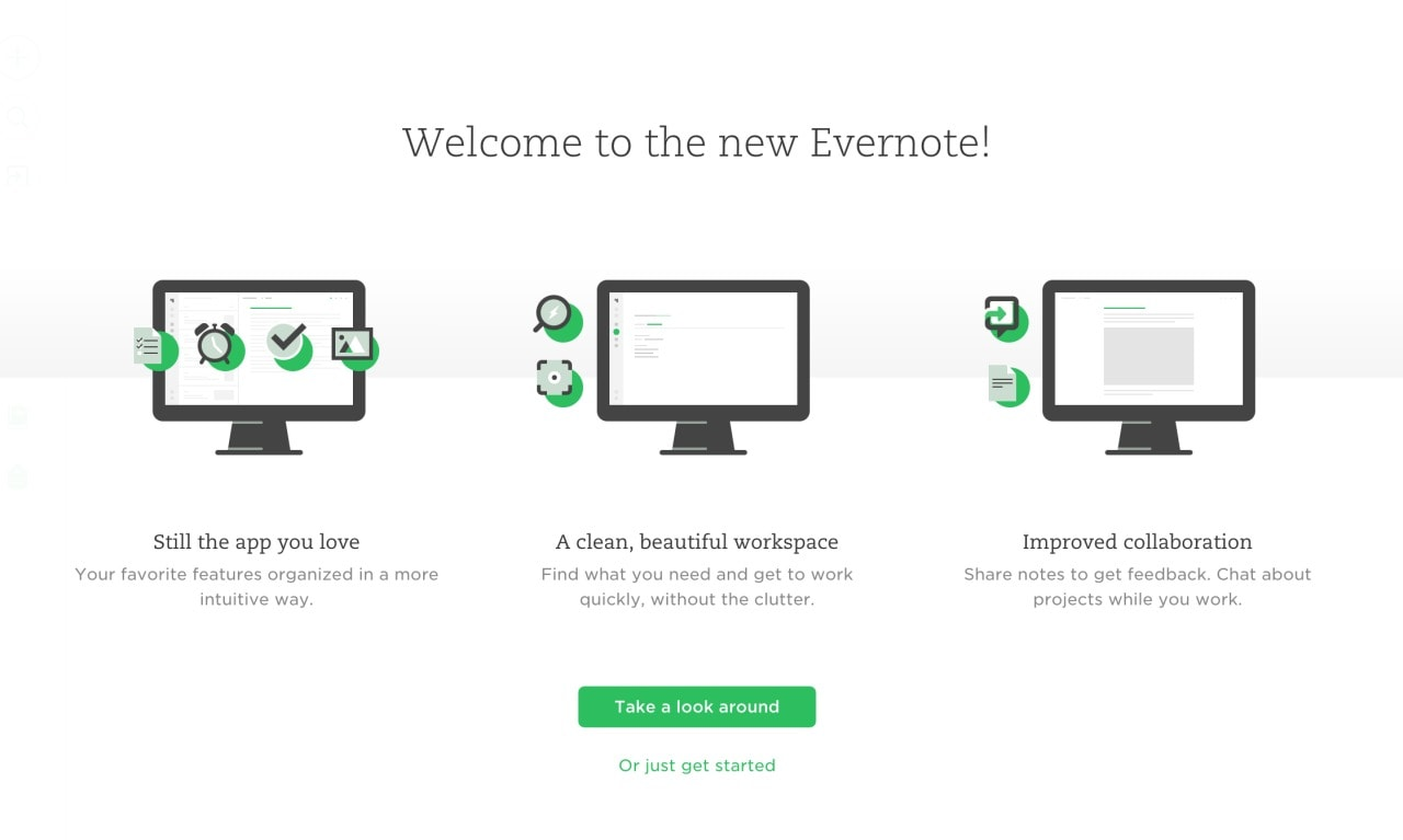 What's New @Evernote Page #ui #inspiration #interface #web