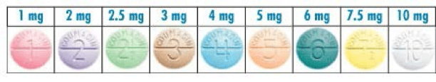 Chart of different warfarin dose colors also frequently asked questions about university iowa rh uihc