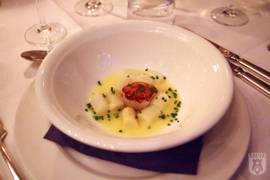 Coquilles beurre-blanc bieslook