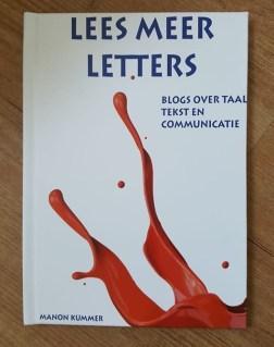 Boekje blogs Lees meer letters