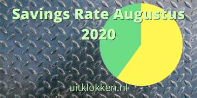 Savings Rate Augustus 2020