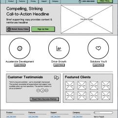 Website Wireframe Diagram Example System Of A Volcano Gallery Ui Wireframes Portfolio