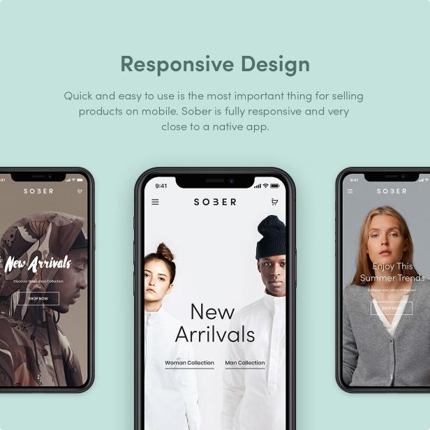 Sober WordPress theme is fully responsive