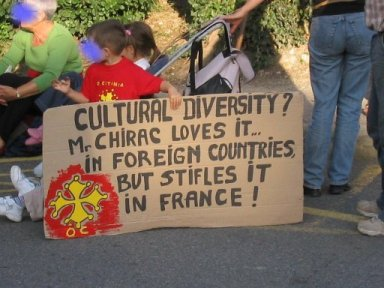 Cultural diversity ? Mr. Chirac loves it ... in foreign countries but stifles it in France !